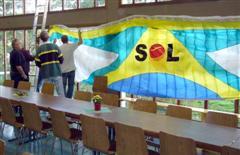 SOL zeigt Flagge! Und Schirm...