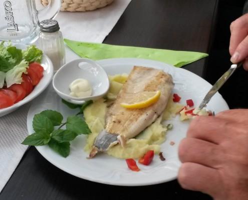 Abendessen Penzion Sterk, Fisch