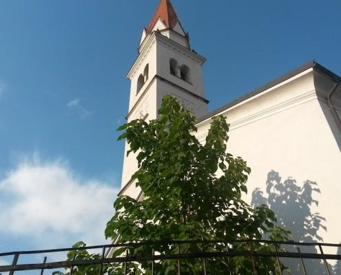 Most na soci Kirche
