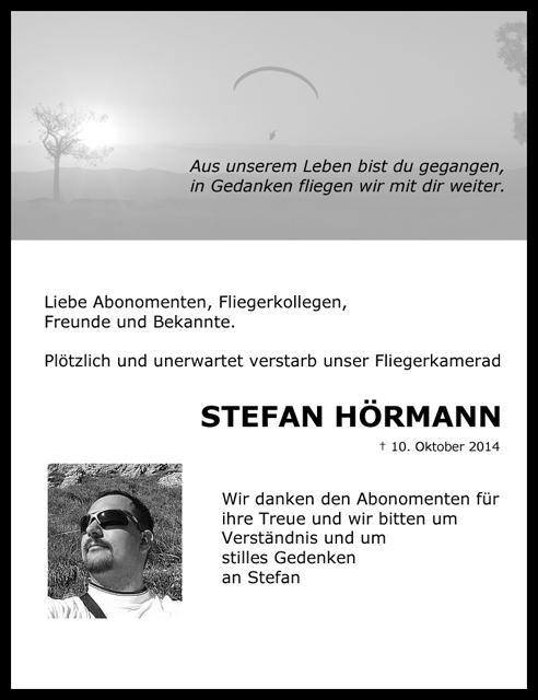 Stefan-Hoermann Todesanzeige