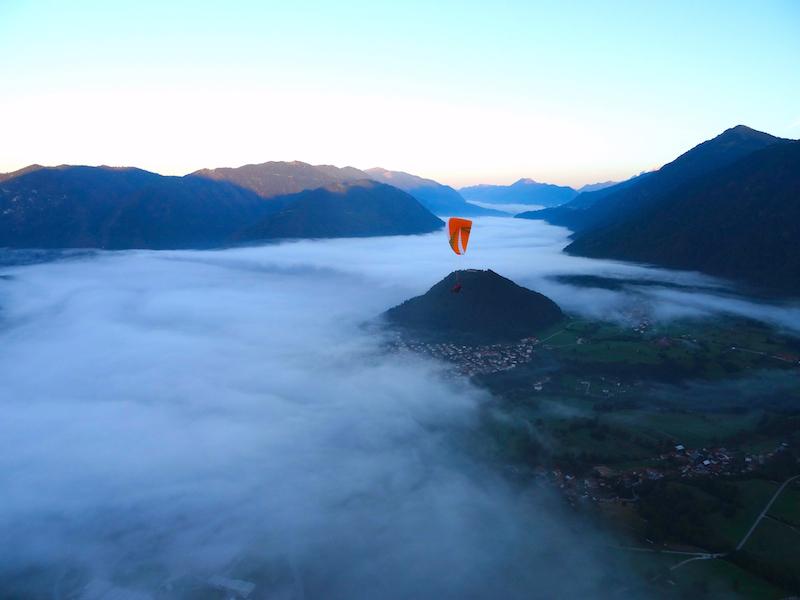 """Michael Zieger: """"Mein atemberaubender 'Wolkenflug' vom Kobala. Am 26. August 2015, morgens um 7:30 Uhr."""""""