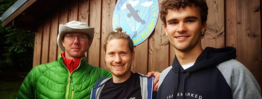 Die glücklichen Sieger - v.l.n.r. Chris Demmert (2), Matthias Wehrle (1), Eric Trapp (3)