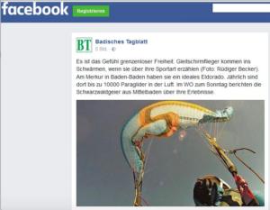 Badisches Tagblatt Facebook Vorankündigung Wo Zum Sonntag