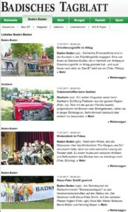 Badisches Tagblatt Website
