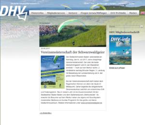 DHV Website Vorankündigung