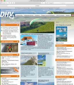 DHV Homepage Vorankündigung