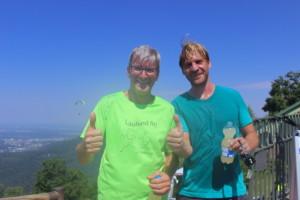 Erst- und Zweitplatzierte: Stefan Volk (re.) und Dirk Ebert